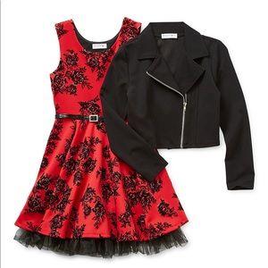 Girls Knitworks Moto Jacket
